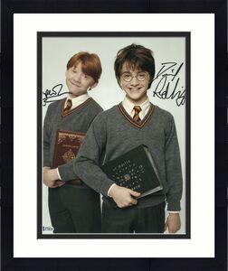 Daniel Radcliffe Rupert Grint Signed Auto Harry Potter 11x14 Beckett Bas Coa B