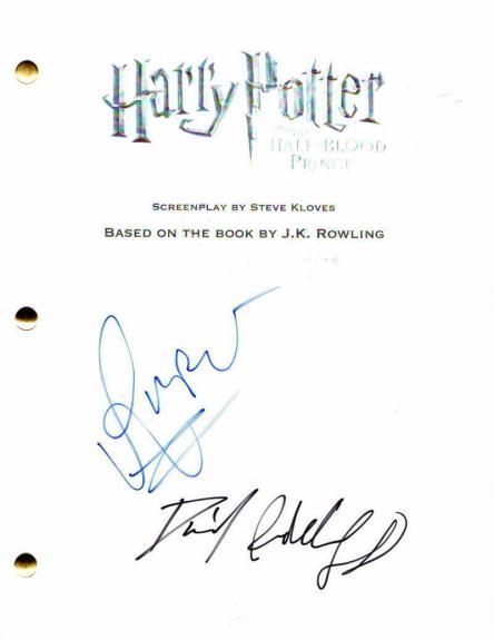 Daniel Radcliffe & Rupert Grint Signed Autograph -harry Potter Full Movie Script