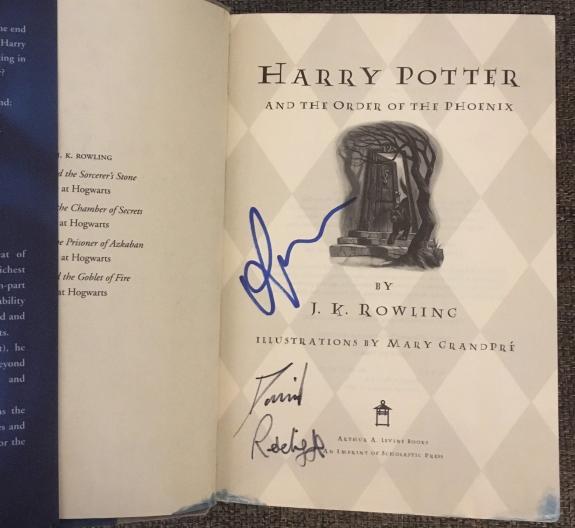 Daniel Radcliffe Rupert Grint Signed Autograph Harry Potter Order Phoenix Book