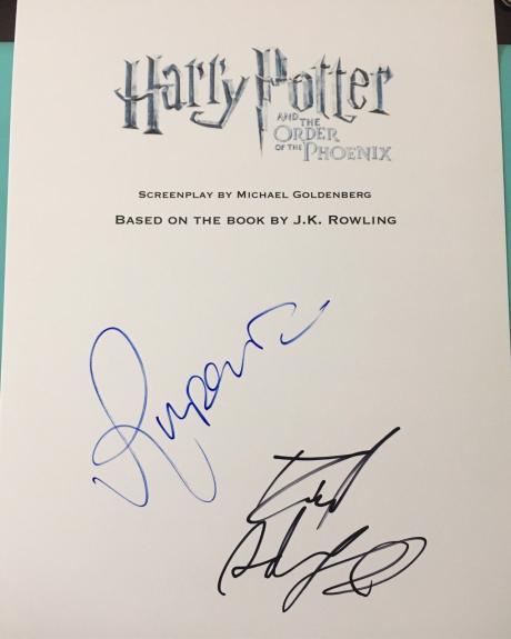 Daniel Radcliffe Rupert Grint Signed Autograph Harry Potter Phoenix Movie Script