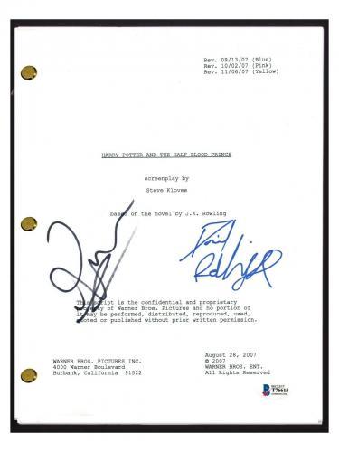 Daniel Radcliffe Rupert Grint Signed HARRY POTTER Half Blood Prince Script BAS