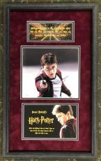DANIEL RADCLIFFE signed 8x10  HARRY POTTER custom framed display- JSA COA