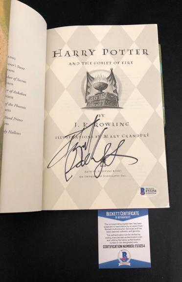 Daniel Radcliffe Signed Auto Harry Potter And The Goblet Of Fire Book Beckett