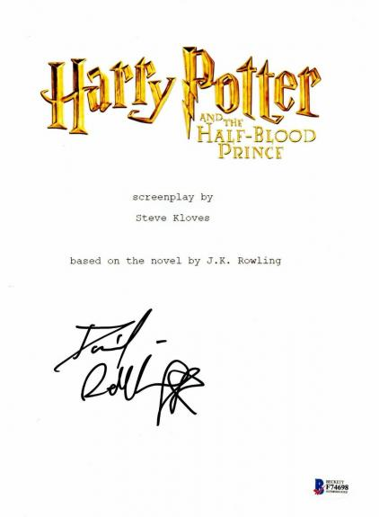 Daniel Radcliffe Signed Auto Harry Potter Half Blood Prince Full Script Beckett