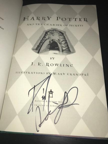 Daniel Radcliffe Signed Autograph Harry Potter And The Chamber Of Secrets Coa D5