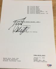 "Daniel Radcliffe Signed Autograph ""harry Potter Deathly Hallows 1"" Script Psadna"