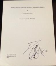 "Daniel Radcliffe Signed Autograph ""harry Potter Deathly Hallows Part 2"" Script"
