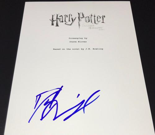 Daniel Radcliffe Signed Autograph Harry Potter Dh 1 Full Rare Movie Script Coa