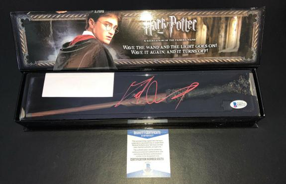 Daniel Radcliffe Signed Autograph Harry Potter Illuminating Wand Bas Beckett 13