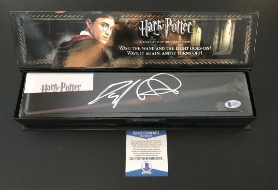 Daniel Radcliffe Signed Autograph Harry Potter Illuminating Wand Bas Beckett 14