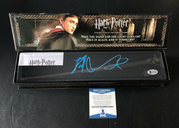 Daniel Radcliffe Signed Autograph Harry Potter Illuminating Wand Bas Beckett 2