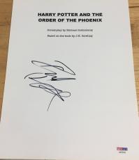 "Daniel Radcliffe Signed Autograph ""harry Potter Order Phoenix"" Script Psadna"