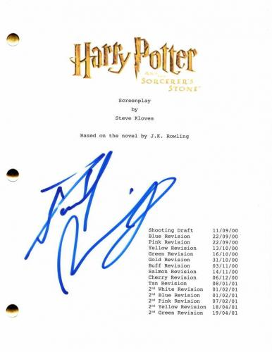 Daniel Radcliffe Signed Autograph Harry Potter Sorcer's Stone Full Movie Script