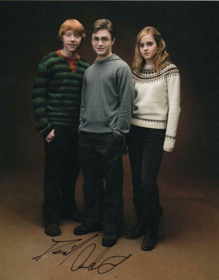 DANIEL RADCLIFFE SIGNED AUTOGRAPHED 11x14 PHOTO - HARRY POTTER, EMMA WATSON WAND