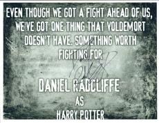 Daniel Radcliffe Signed Autographed 8x10 Photo Harry Potter Quote COA VD