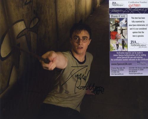Daniel Radcliffe Signed Autographed Color Photo Jsa Coa Harry Potter Nice!!