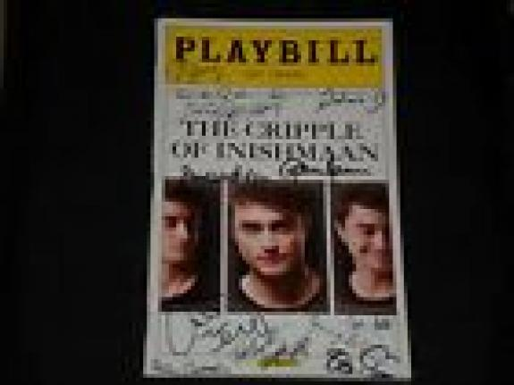 """Daniel Radcliffe Signed Autographed Cripple Of Inishmaan Playbill """"harry Potter"""