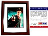 Daniel Radcliffe Signed - Autographed Harry Potter 11x14 inch Photo MAHOGANY CUSTOM FRAME - PSA/DNA Certificate of Authenticity (COA)