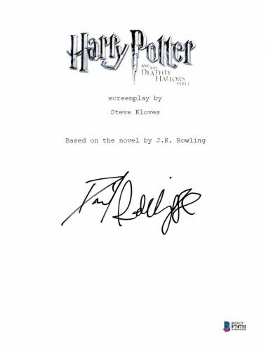 Daniel Radcliffe Signed Autographed Harry Potter Movie Script Beckett Bas Coa 10