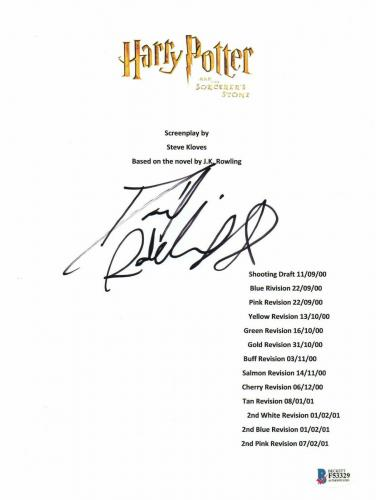 Daniel Radcliffe Signed Autographed Harry Potter Movie Script Beckett Bas Coa 11