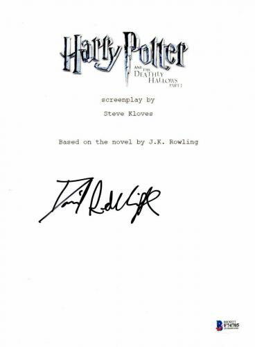 Daniel Radcliffe Signed Autographed Harry Potter Movie Script Beckett Bas Coa 14