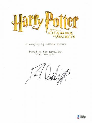 Daniel Radcliffe Signed Autographed Harry Potter Movie Script Beckett Bas Coa 17