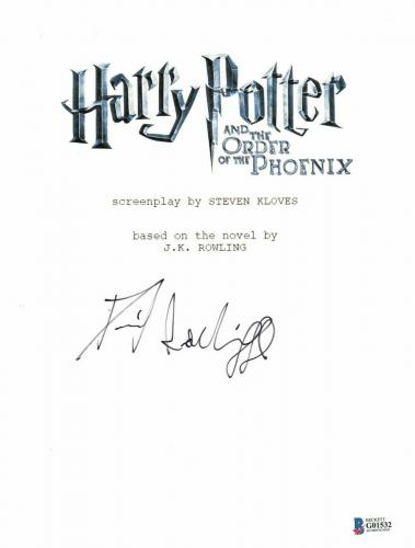 Daniel Radcliffe Signed Autographed Harry Potter Movie Script Beckett Bas Coa 18
