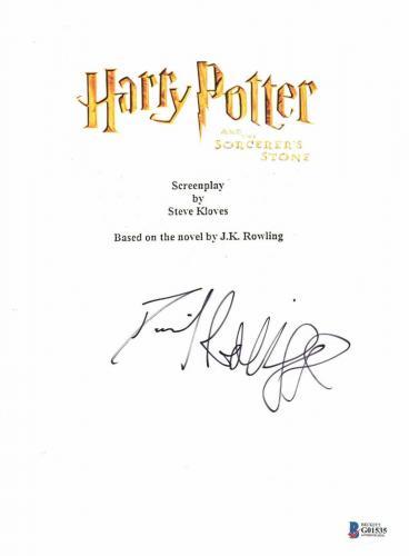 Daniel Radcliffe Signed Autographed Harry Potter Movie Script Beckett Bas Coa 19