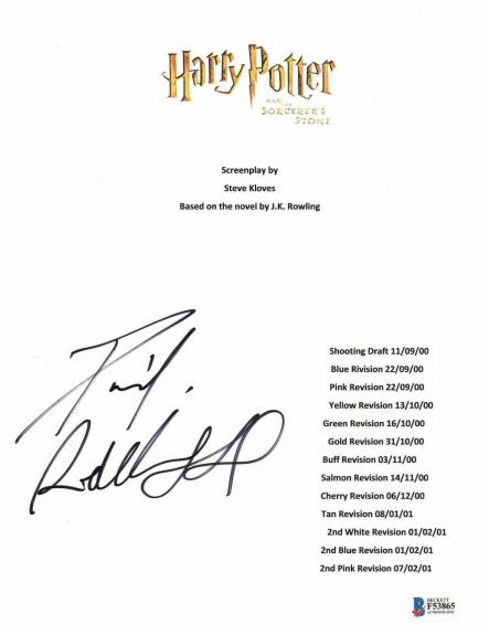 Daniel Radcliffe Signed Autographed Harry Potter Movie Script Beckett Bas Coa 20