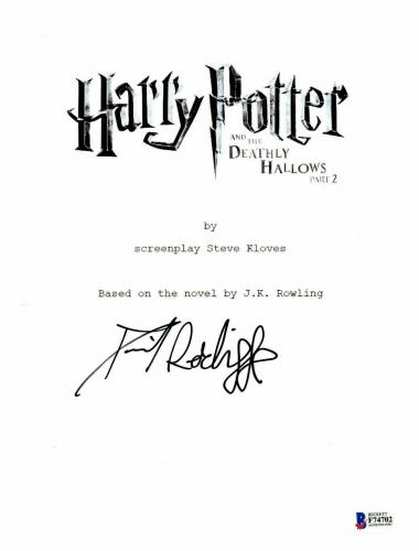 Daniel Radcliffe Signed Autographed Harry Potter Movie Script Beckett Bas Coa 22