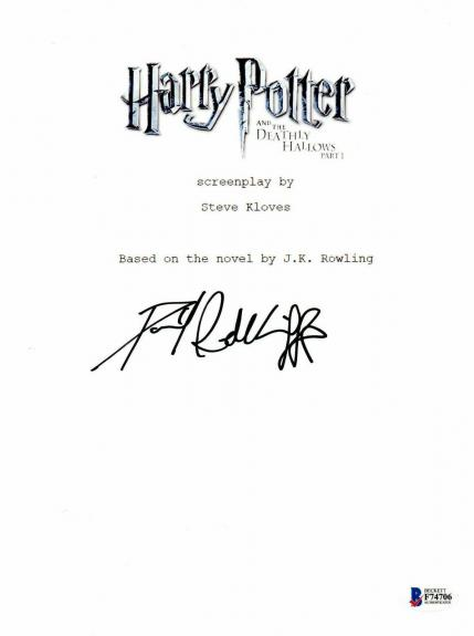 Daniel Radcliffe Signed Autographed Harry Potter Movie Script Beckett Bas Coa 23