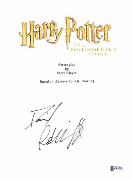 Daniel Radcliffe Signed Autographed Harry Potter Movie Script Beckett Bas Coa 25