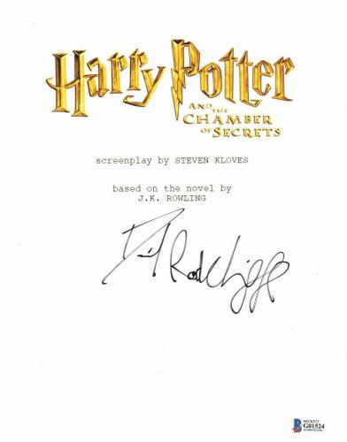 Daniel Radcliffe Signed Autographed Harry Potter Movie Script Beckett Bas Coa 26