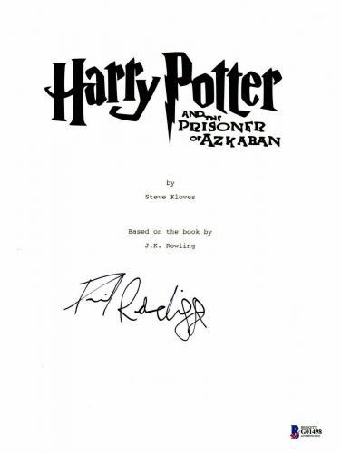 Daniel Radcliffe Signed Autographed Harry Potter Movie Script Beckett Bas Coa 31
