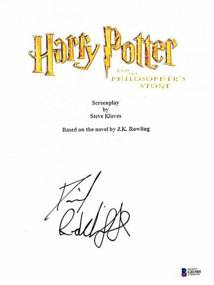 Daniel Radcliffe Signed Autographed Harry Potter Movie Script Beckett Bas Coa 32