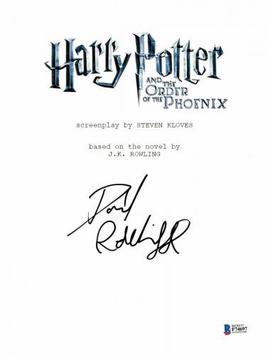 Daniel Radcliffe Signed Autographed Harry Potter Movie Script Beckett Bas Coa 6
