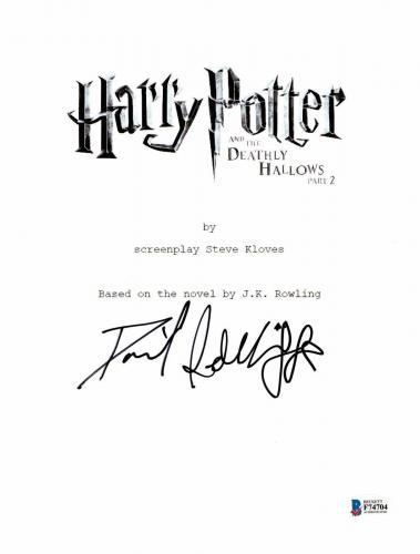 Daniel Radcliffe Signed Autographed Harry Potter Movie Script Beckett Bas Coa 8
