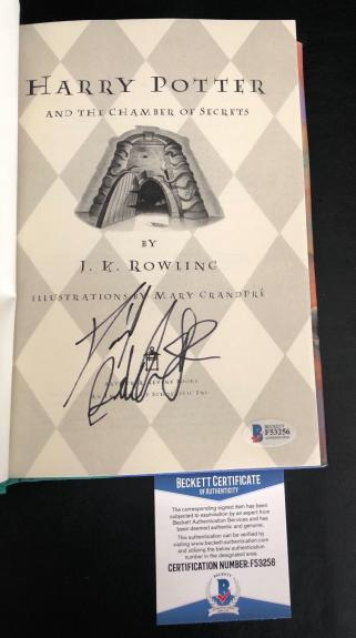 Daniel Radcliffe Signed Harry Potter And The Chamber Of Secrets Book Beckett