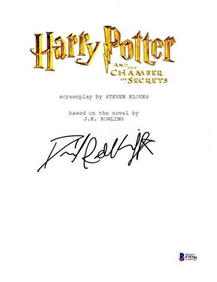 Daniel Radcliffe Signed Harry Potter And The Chamber Of Secrets Script Proof Bas