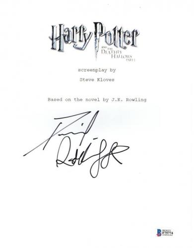 Daniel Radcliffe Signed Harry Potter And The Deathly Hallows Part 1 Script Proof