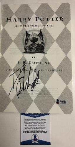 Daniel Radcliffe Signed Harry Potter And The Goblet Of Fire Book Beckett Proof