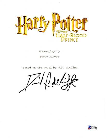 Daniel Radcliffe Signed Harry Potter And The Half-blood Prince Script Proof Bas