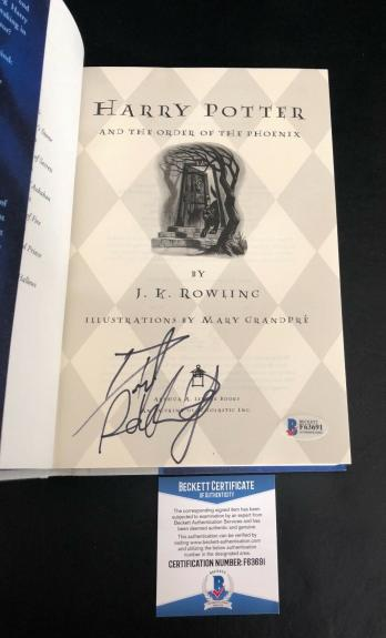 Daniel Radcliffe Signed Harry Potter And The Order Of The Phoenix Book Beckett