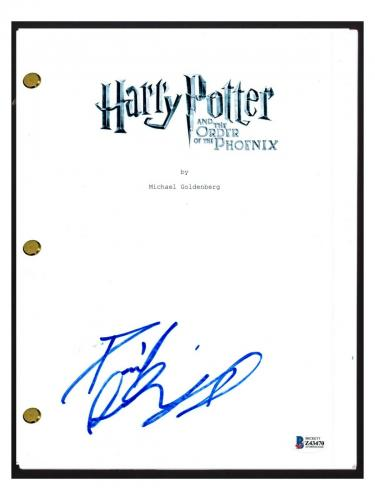 Daniel Radcliffe Signed Harry Potter and the Order of the Phoenix Script BAS COA