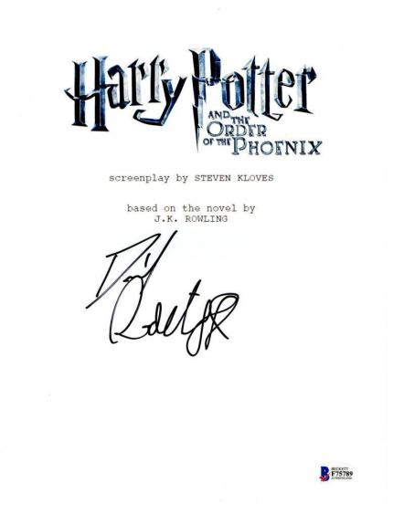 Daniel Radcliffe Signed Harry Potter And The Order Of The Phoenix Script Proof