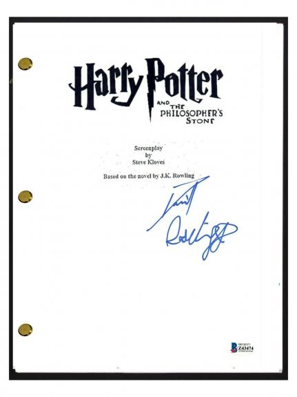 Daniel Radcliffe Signed Harry Potter and the Philosopher's Stone Script BAS COA