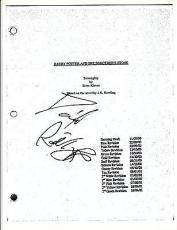 Daniel Radcliffe Signed Harry Potter And The Sorcerer's Stone 134 Page Script