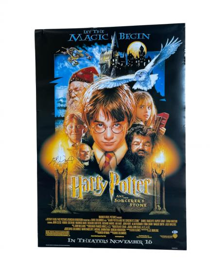 Daniel Radcliffe Signed Harry Potter And The Sorcerer's Stone Full Size Poster