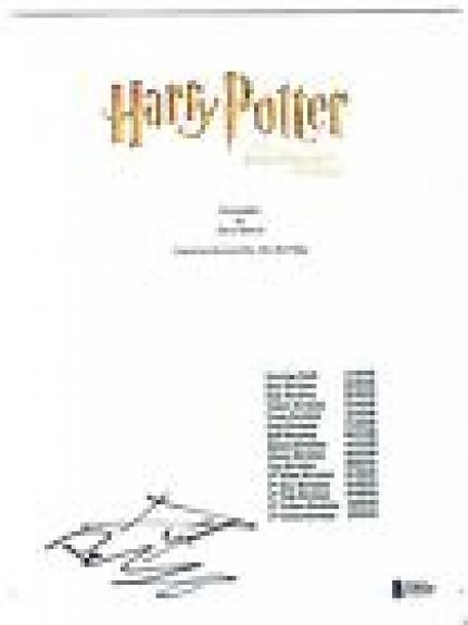 Daniel Radcliffe Signed HARRY POTTER AND THE SORCERER'S STONE Script BAS COA