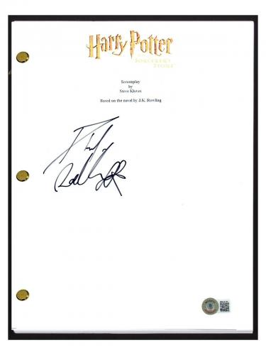 Daniel Radcliffe Signed Harry Potter and the Sorcerer's Stone Script Beckett COA